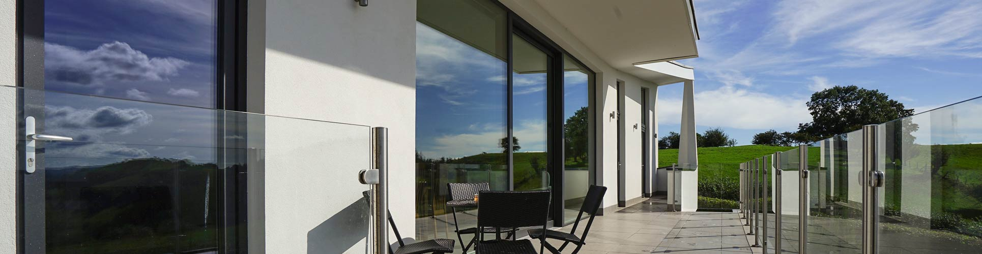 Aluminium Sliding Doors, eco build Rest On The Hill Oswestry, UK.