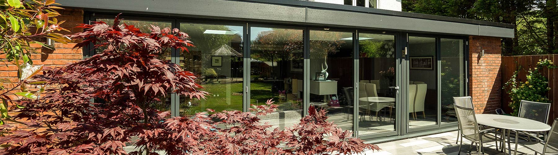 Aluminium bifolds installed Alderly Edge, Cheshire