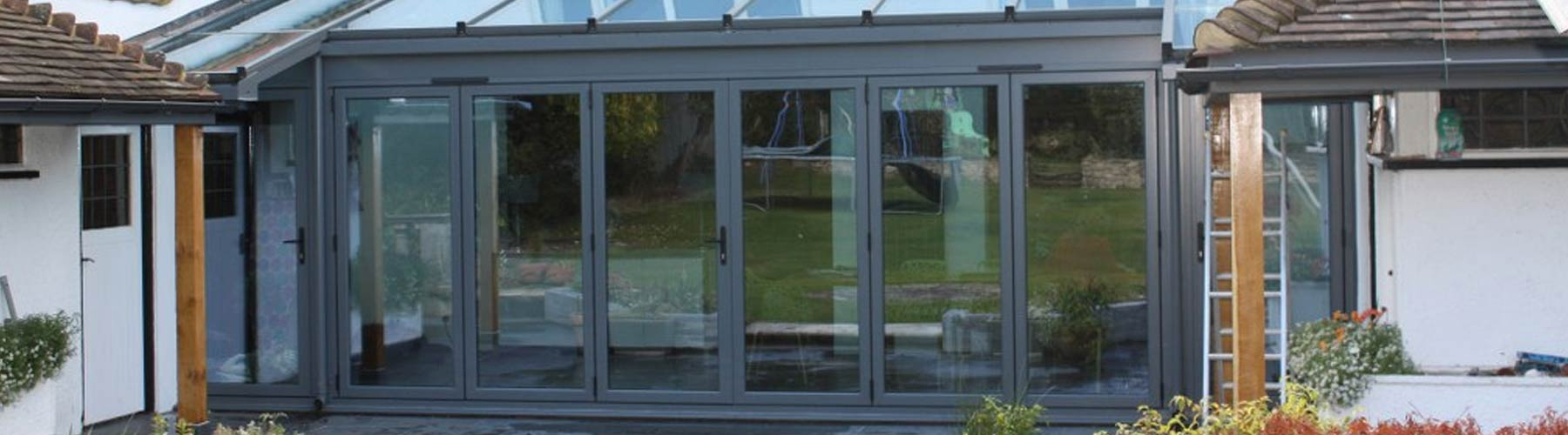 Slimfold A10 Aluminium Bifold Doors installed in Warrington.