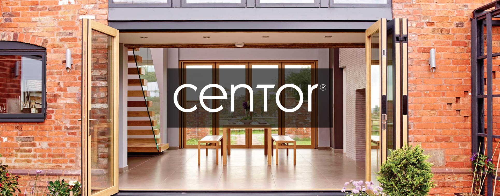 Centor integrated doors installed in a converted barn Northwich, UK.