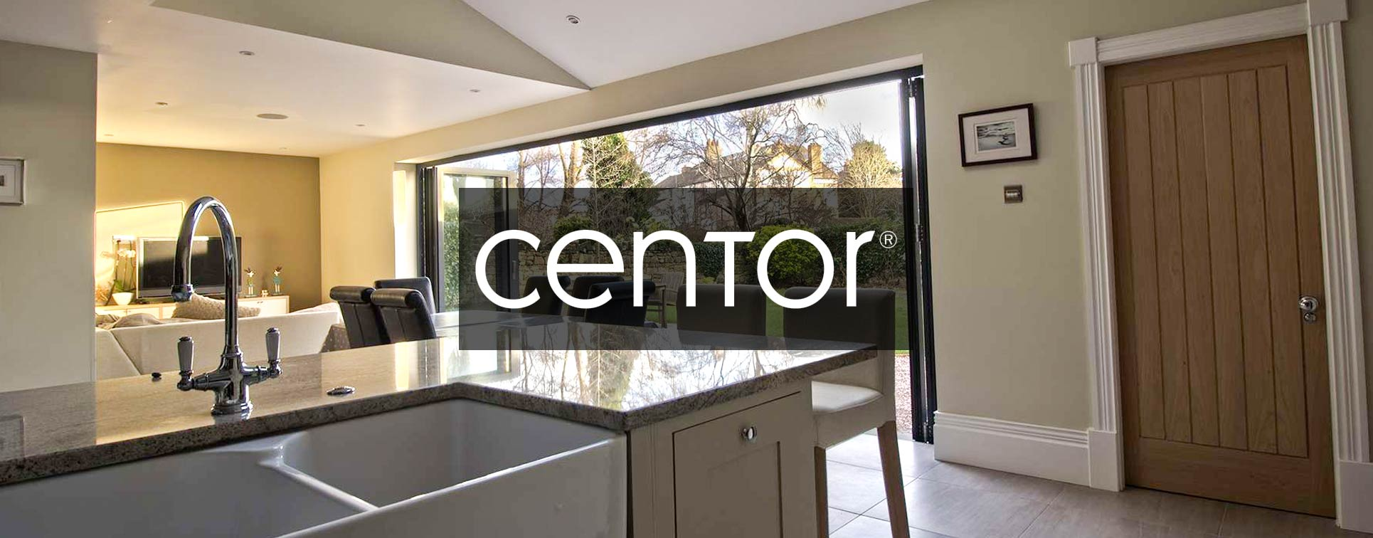 Centor C1 bifold door installed in a stunning open plan extension, Oxton, Wirral.