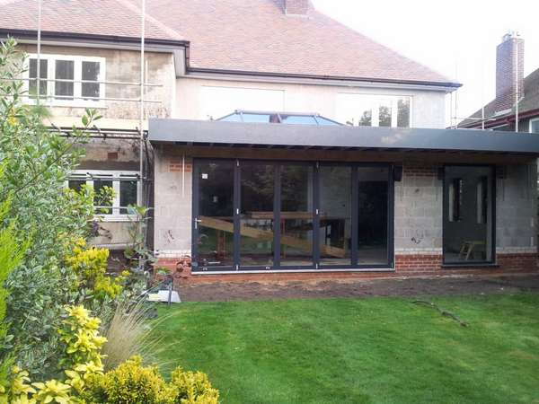 Felton Consulting: West Kirby, Wirral - Installation of our Centor C1 Triple Glazed Bi fold doors and windows combined with our HWL Roof lantern with a U value of 0.75.