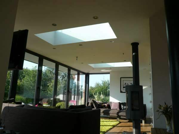 Mr & Mrs M. Internal view of design and build: Centor C1 44mm triple glazed Bi fold doors