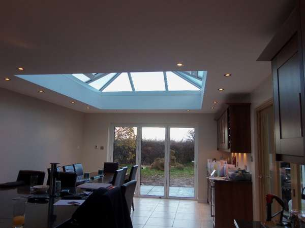 Mrs M: Heswall: Installtion of 70C White PvcU Bi folding doors. Double glazed with Hytherm Double glazed units