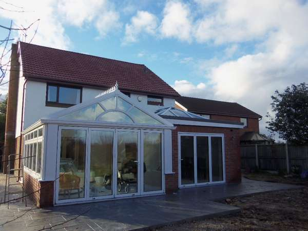 Mr & Mrs K: Irby wirral: Installation centor C1 Tripple glazed doors