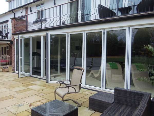 Mr T: Formby: Installation: centor C1 bifold triple glazed bifold doors with 44 mm units U Value 0.7